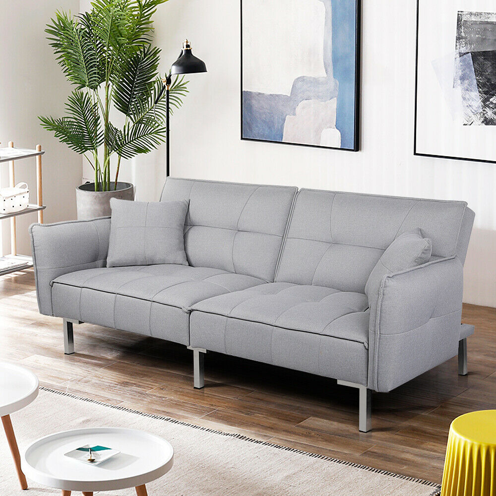 Modern Fabric 3 Seater Sofa Bed/Recliner