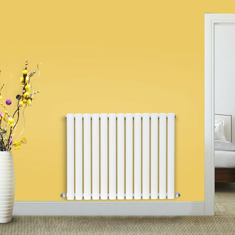 White Horizontal and Vertical Radiators- Oval Column