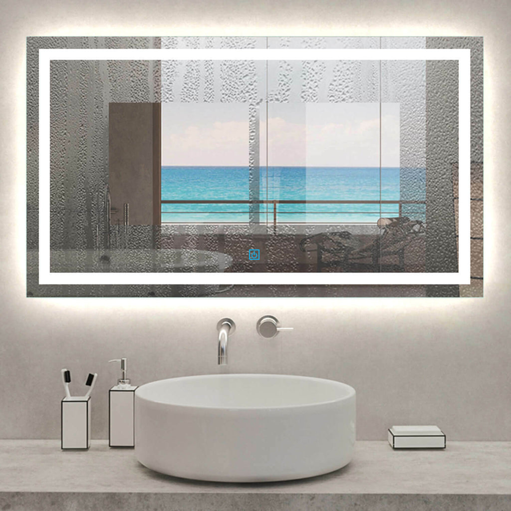 Large Bathroom Wall Mirror with LED Lights