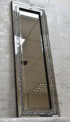 40x120cm Crushed Diamond Mirror
