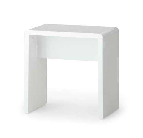 Manhattan Dressing Table in High Gloss White with Stool Option Free Delivery