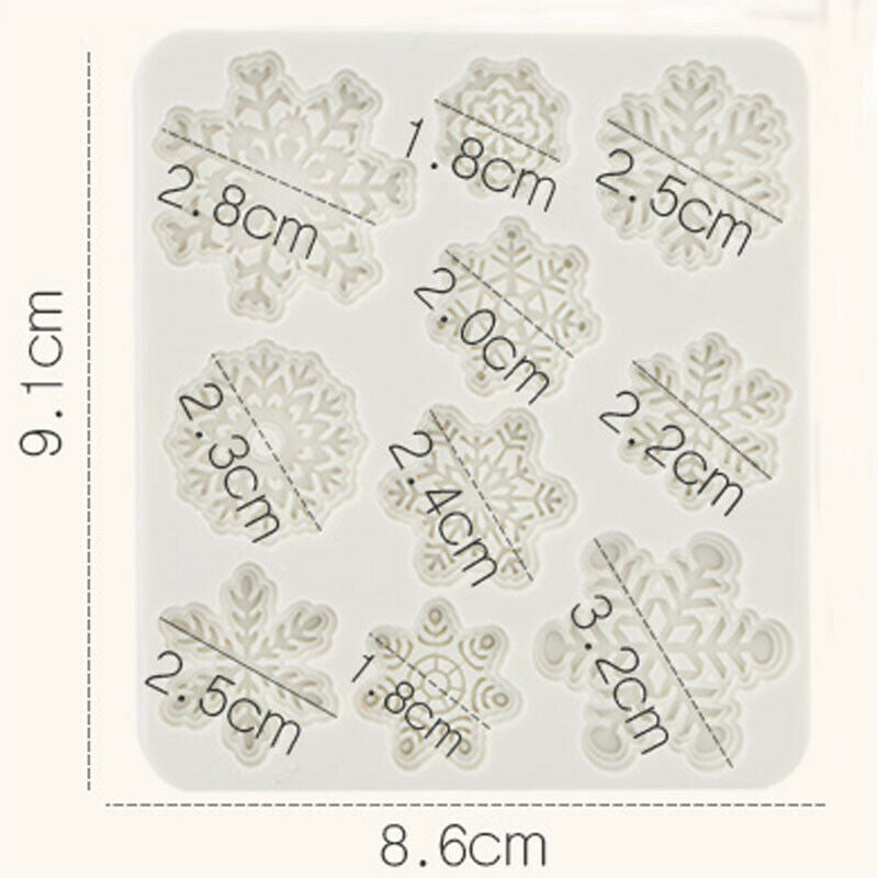 Christmas Silicone Cake Decor Mold Fondant Baking Chocolate Cupcake Xmas Mould