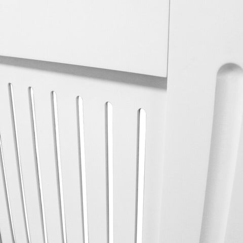 Radiator Cover White Horizontal Vertical Slats E1 MDF Grill Cabinet Furniture