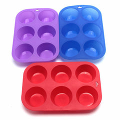 3x 6pc Square Silicon Muffin Pan Baking Cooking Tray Mould Bake Cup Cake Mini