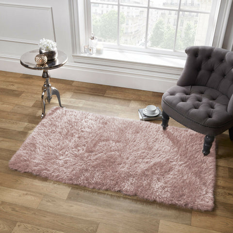 Large Sparkle Shaggy Floor Rug