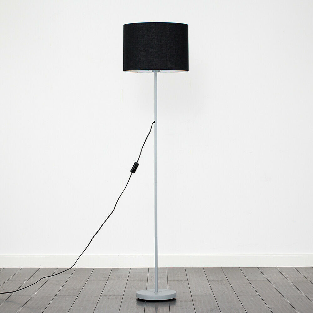 Tall Fabric Floor Lamp