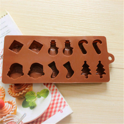Christmas Silicone Fondant Mold Cake Decoration Chocolate Mould Icing Sugarcraft