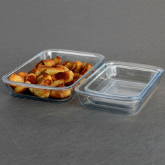 Glass Ovenware Set of 3 Rectangular Dishes