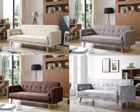 WestWood Fabric Sofa Bed 3 Seater Couch Luxury Modern Home Furniture FSB04 New