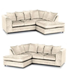 Image of NEW ORIGINAL CHICAGO MICHIGAN CRUSHED VELVET CORNER 3 + 2 SOFA Swivel Chair UK