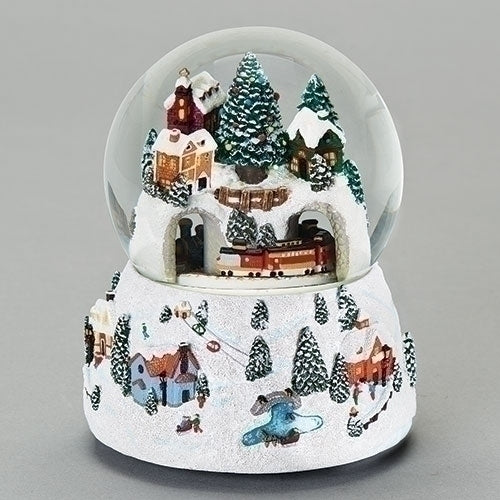 Musical Village Snow Globe
