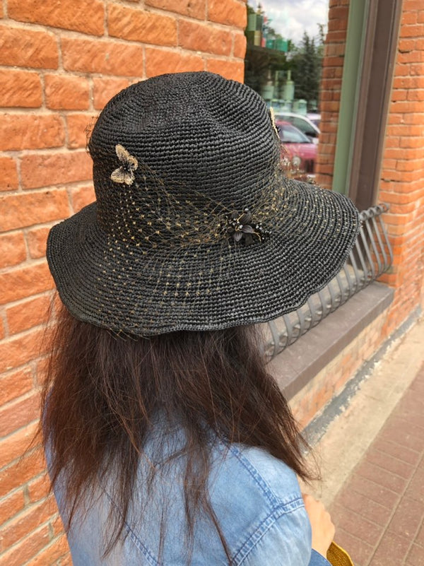 Butterfly Mesh Straw Hat