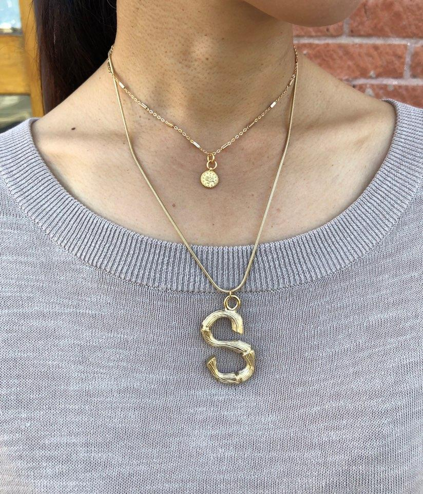 Letter A Stainless Steel Necklace