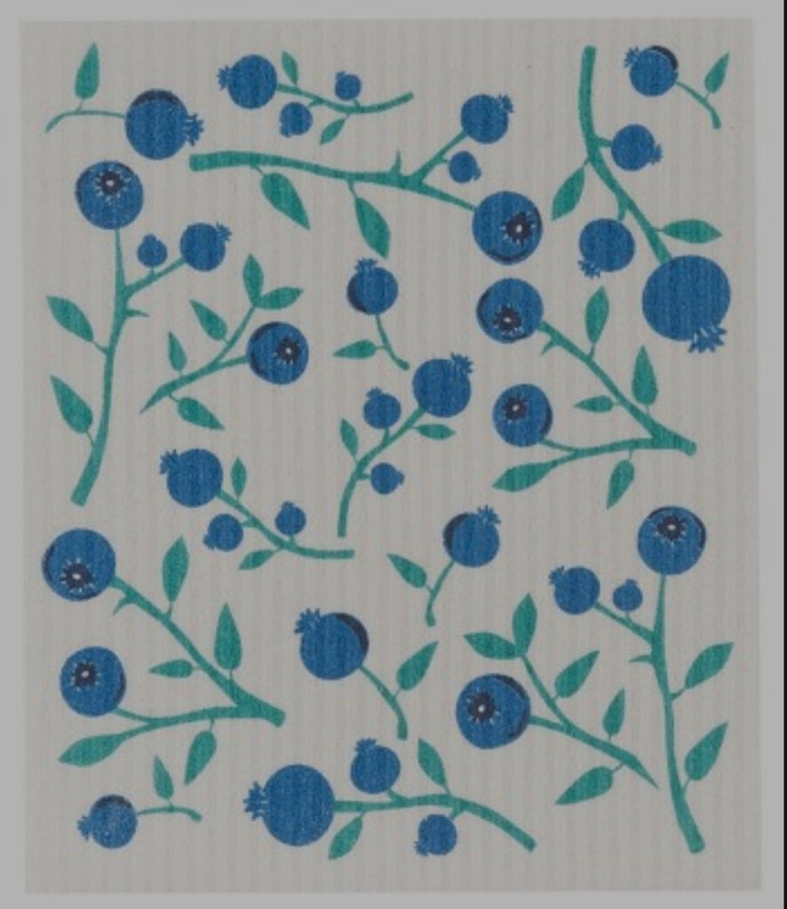 Swedish Dish Cloth - Blue Berries