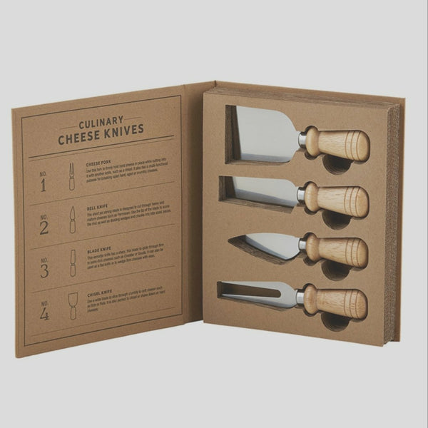 Cardboard Book Set -Culinary Cheese Knife
