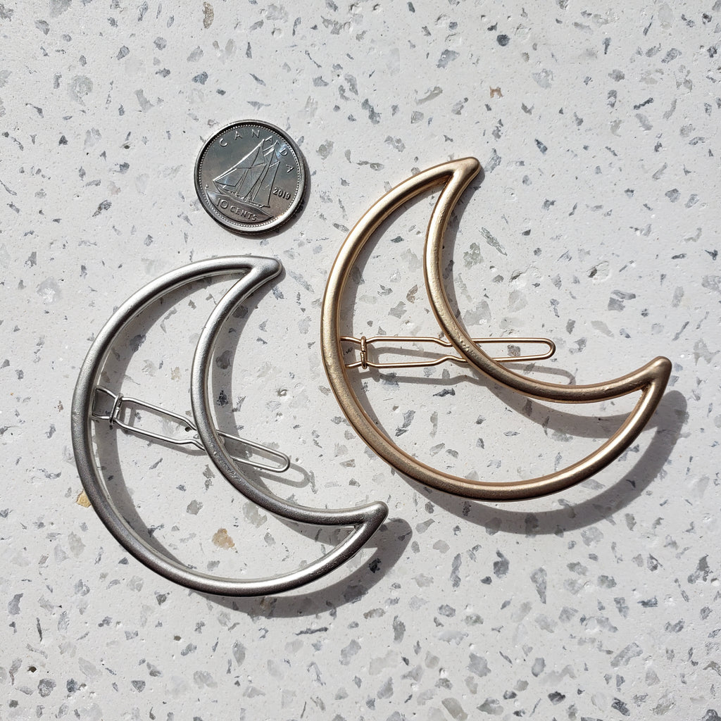 Set of Two Hair Clips - Crescent Moon