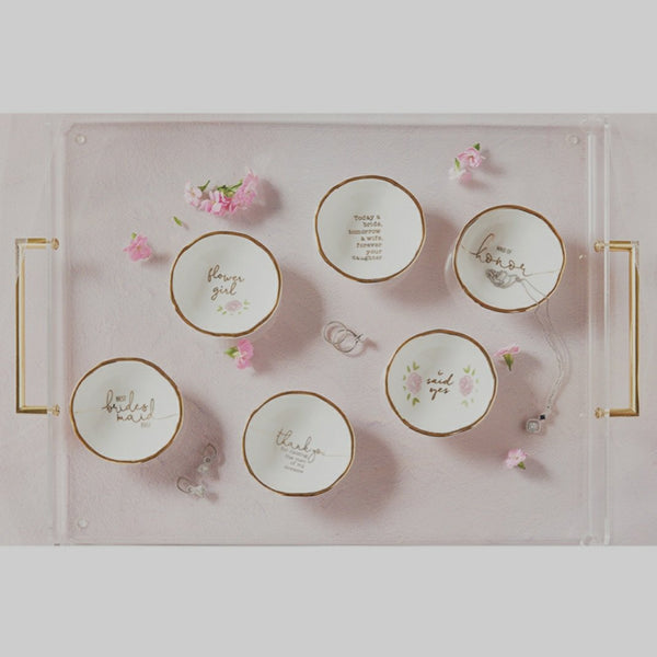 Wedding Party Jewelry Dish