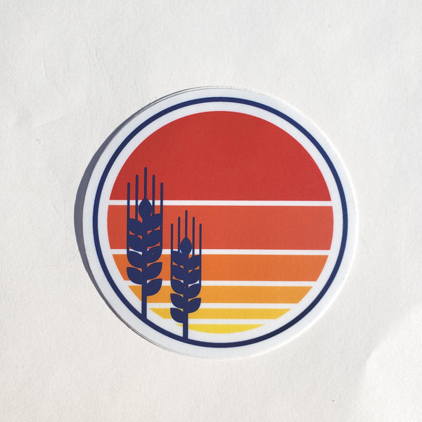 Wheat Heads Sticker