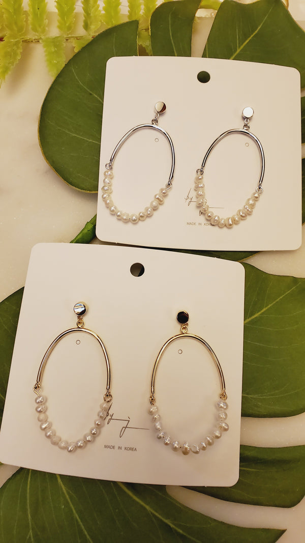 Mago Hoop Stud Earrings
