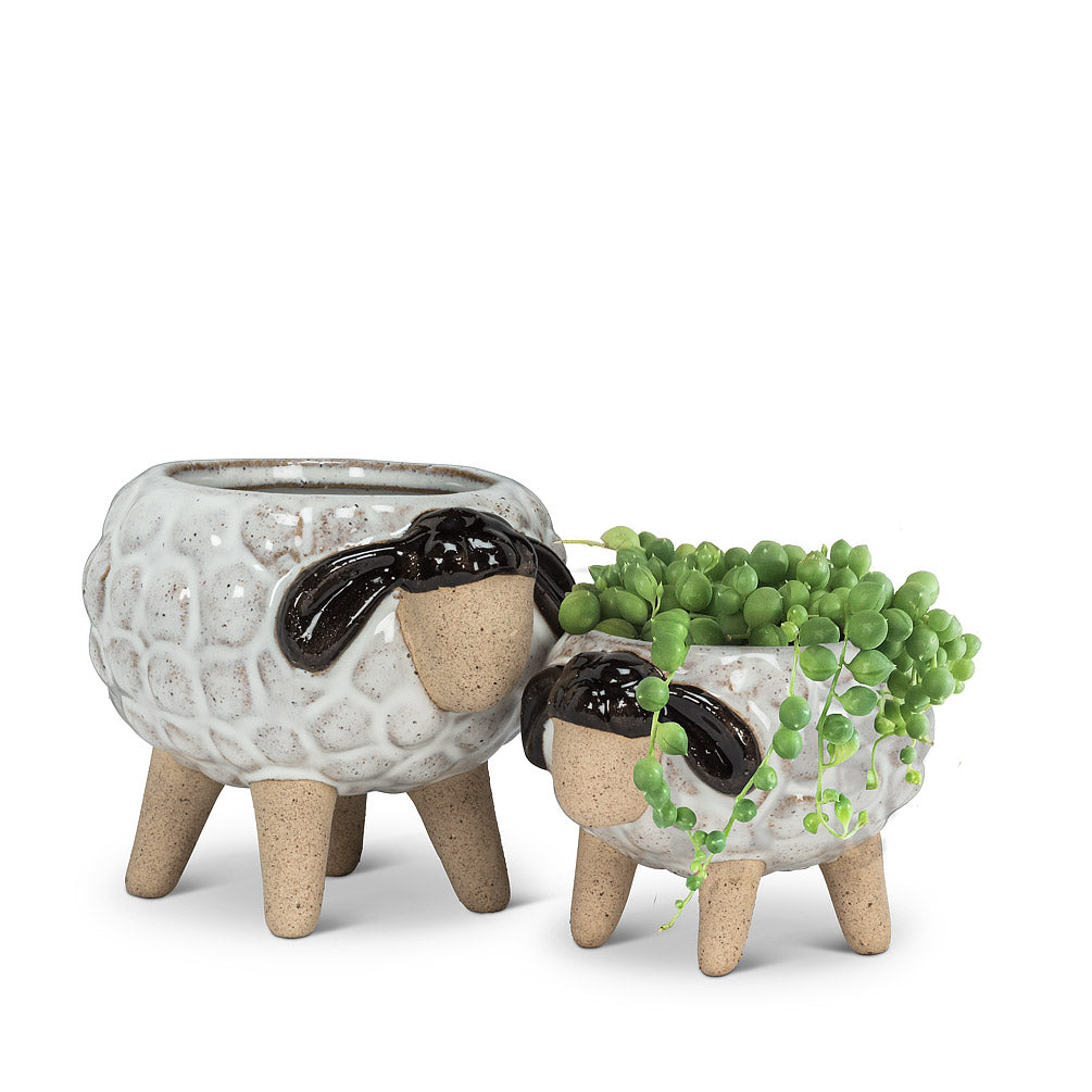Large Sheep on Legs Planter