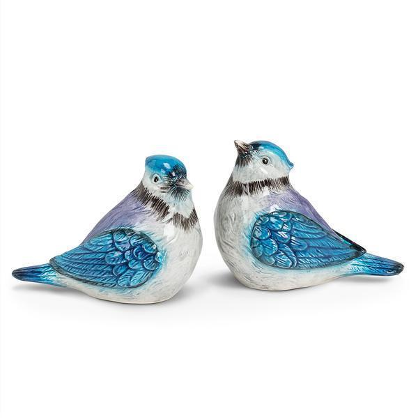 Salt And Pepper Shaker Set Blue Jay