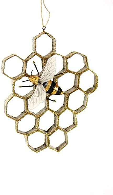 Paper Honeycomb With Bee Ornament