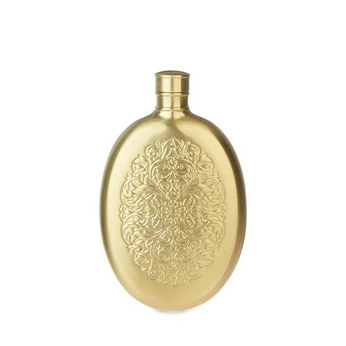 Brass Stainless Steel Filigree Flask