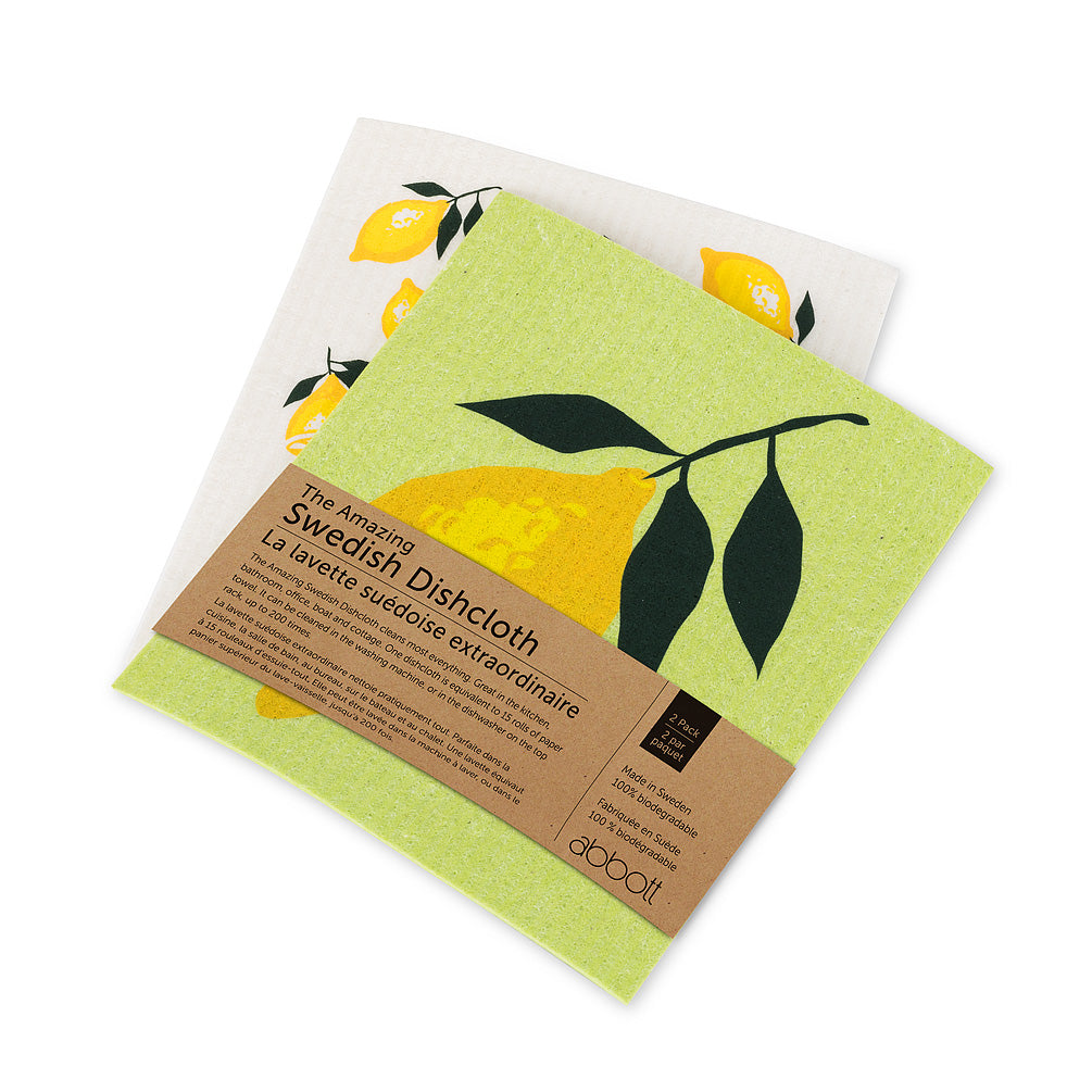 Swedish Dish Cloth Set Lemon