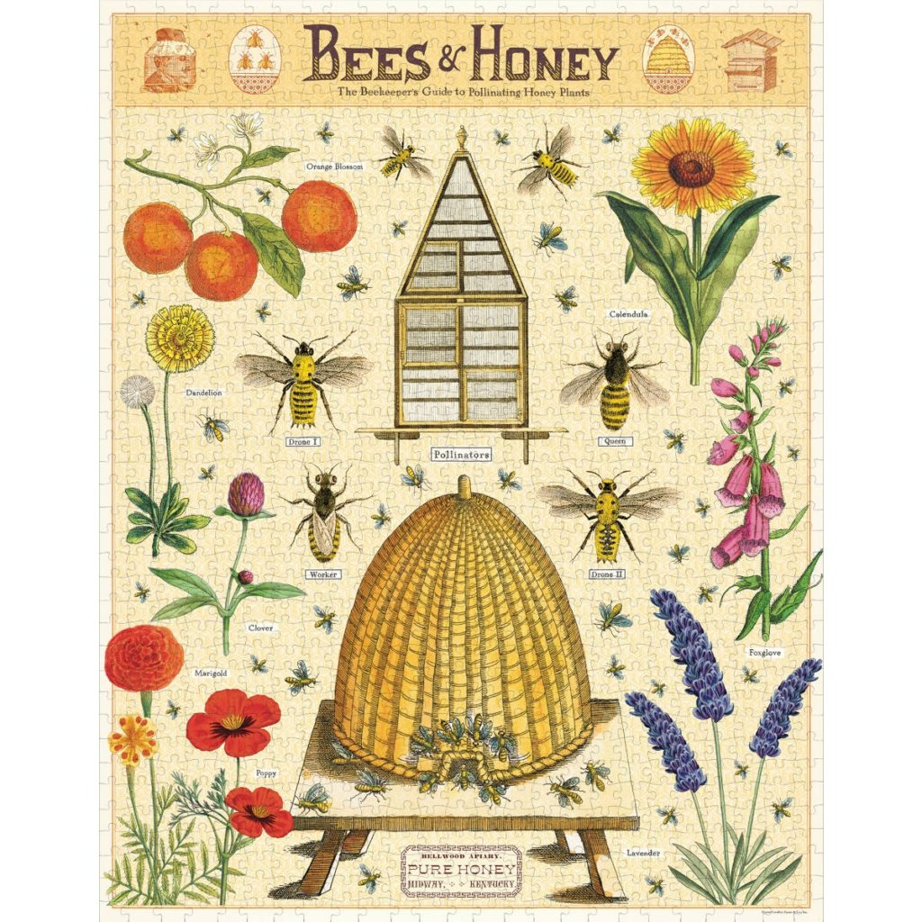 Cavallini & Co. Bees And Honey 1000 Piece Puzzle