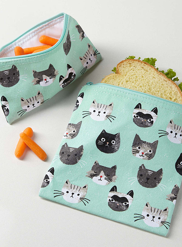 Snack Bags Set of 2 Cats Meow