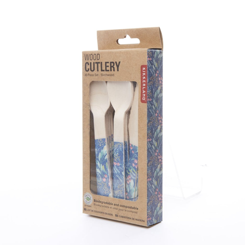 Wood Cutlery Floral