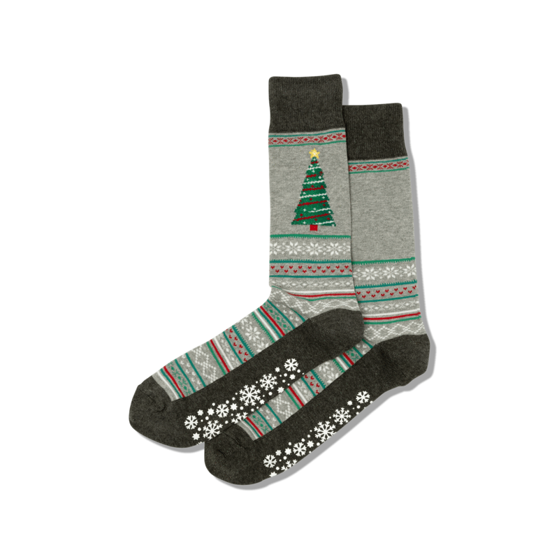 Hotsox Men - Christmas Tree Crew Socks