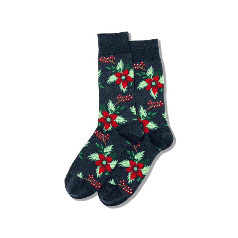Hotsox Men - Poinsettia Crew Sock