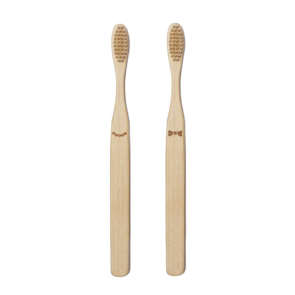 His & Hers Bamboo Toothbrush - Set of Two