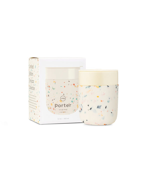 Porter Limited Edition Terrazo To-Go Mug Cream