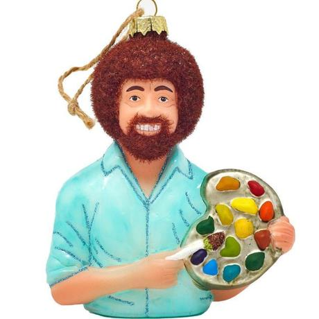 Bob Ross Happy Little Accidents Ornament