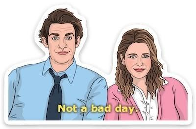 Die Cut Sticker - Jim and Pam