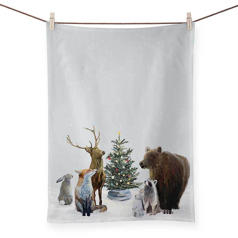 Christmas Carolers Hand Towel