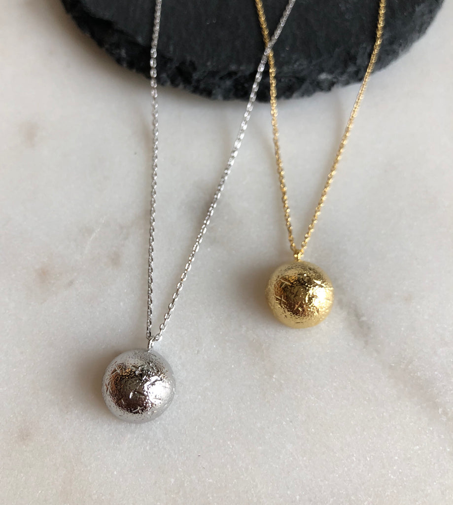 Textured Half Sphere Necklace