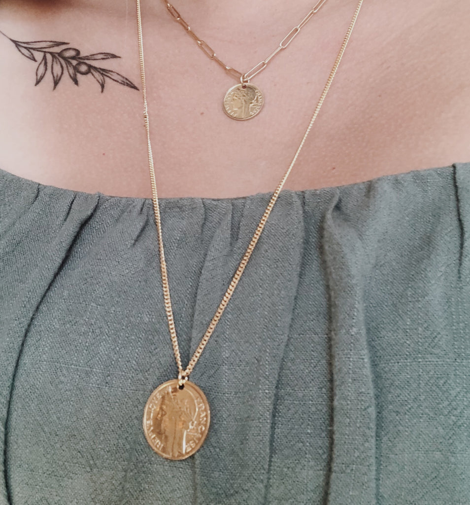 Adalyn Long Gold Coin Necklace