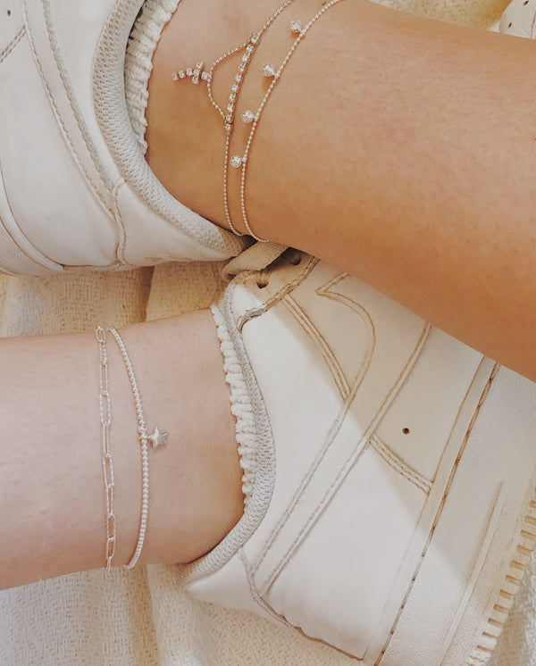 Dainty Cross Anklet