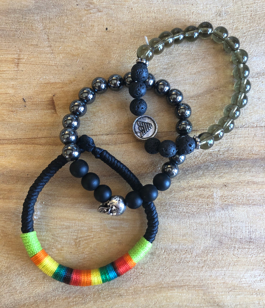 Men's Braclets - Set of Three