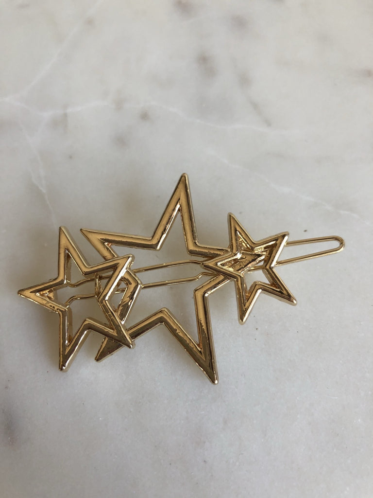 Hair Clip - Three Stars