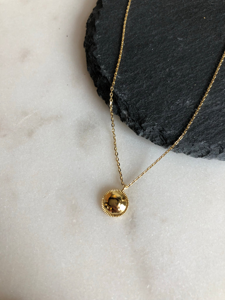 Sunburst Circle Necklace