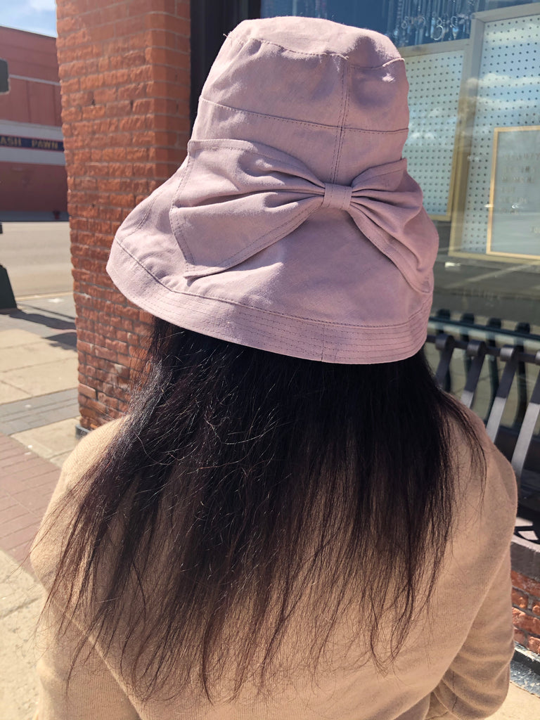 Fabric Hat with Large Bow