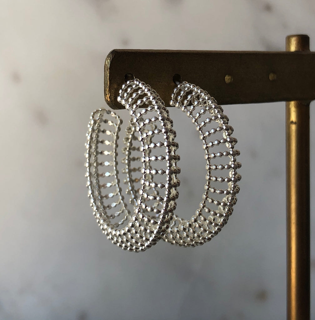 Filippe Hoop Stud Earrings