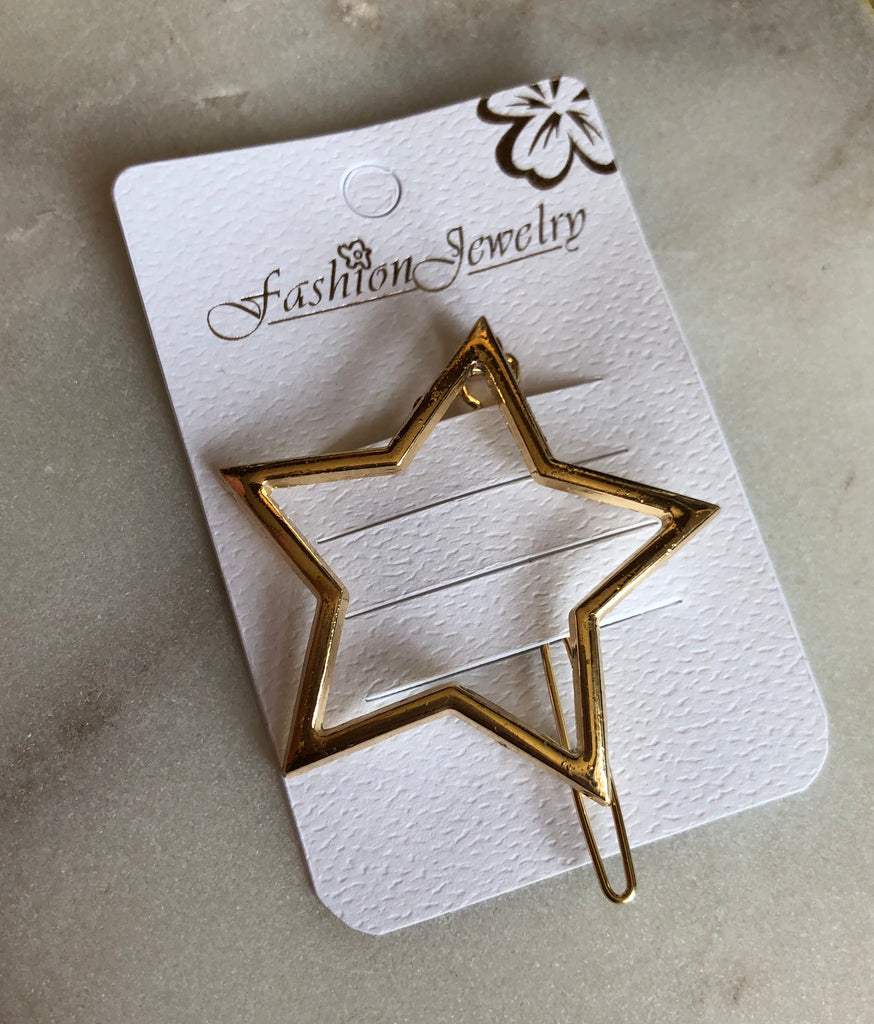Set of Two Hair Clips - Star