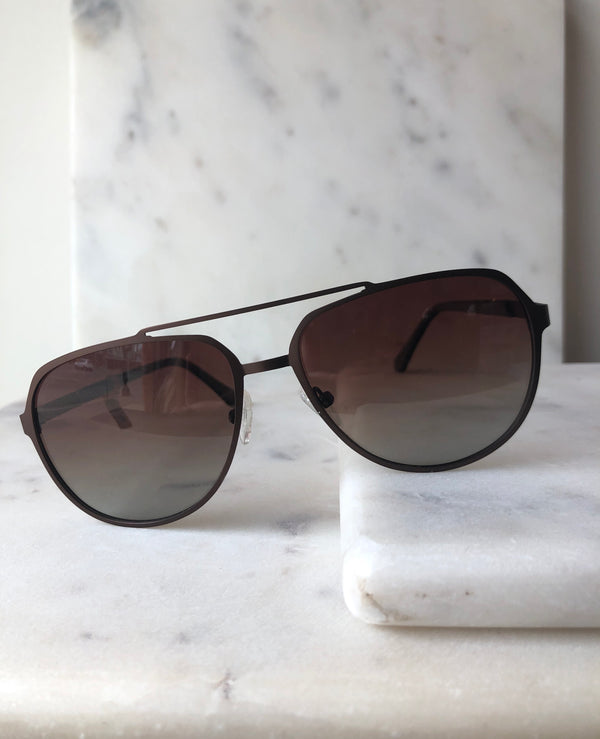 Brown  Aviator Unisex Sunglasses