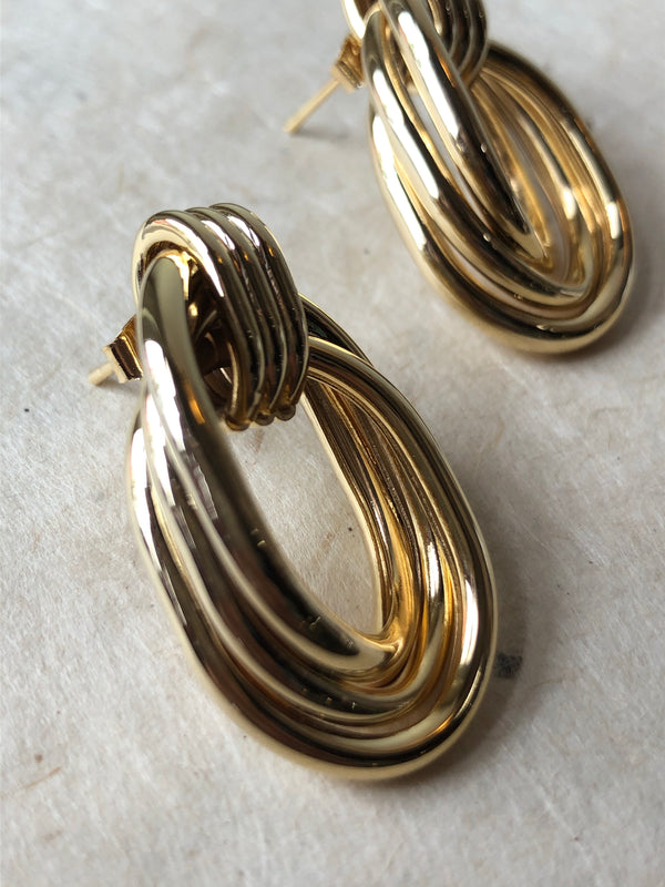 Madison Vintage Layered Hoop Earrings