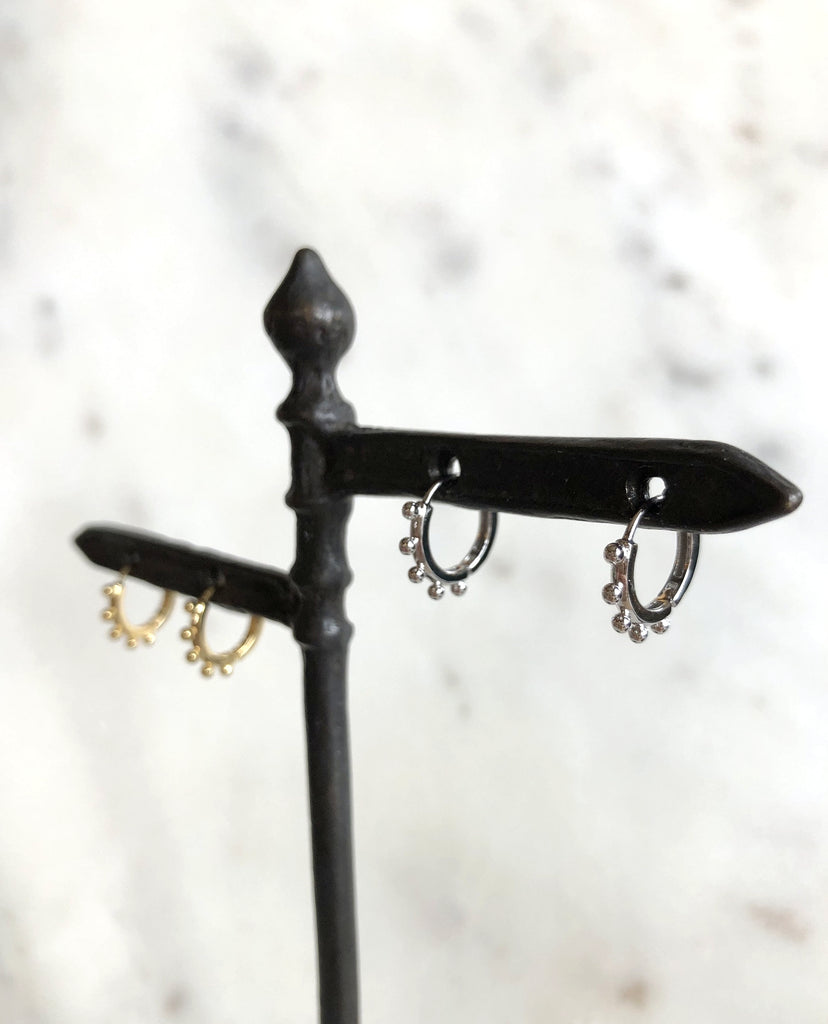 Droplets Huggie Hoop Earrings